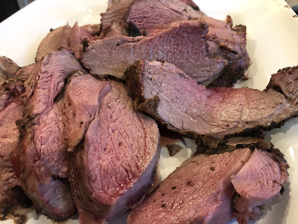 Smoked Boneless Lamb Roast